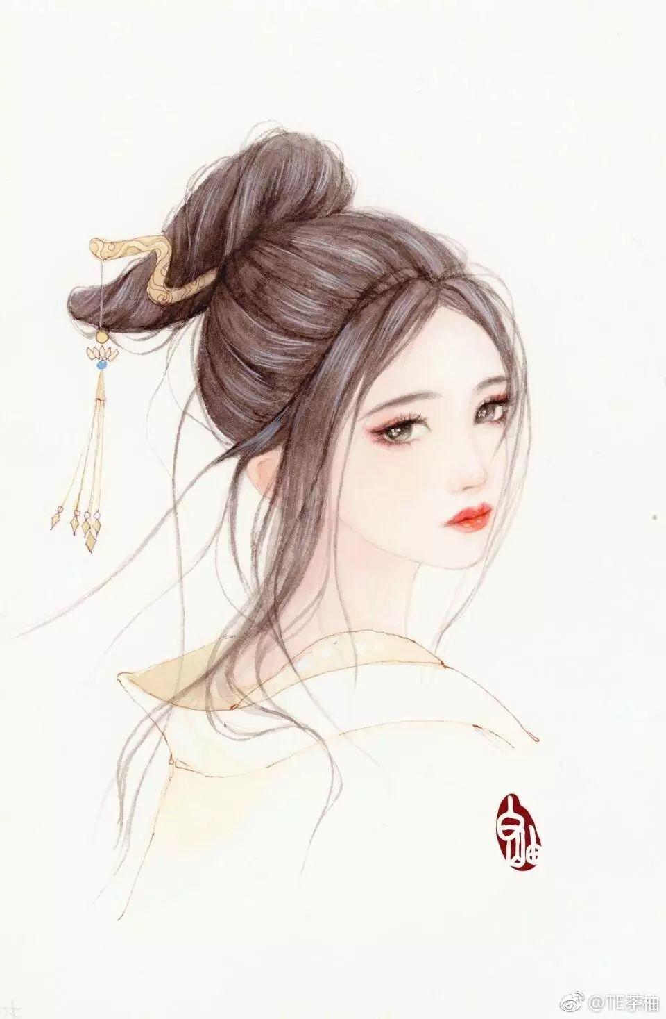唯美古风手绘插画图片,快用起来做美美的壁纸啊!