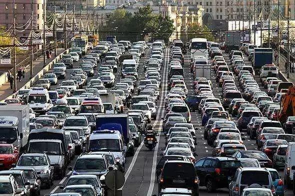 俄罗斯 首堵 莫斯科全城大拥堵实拍 组图