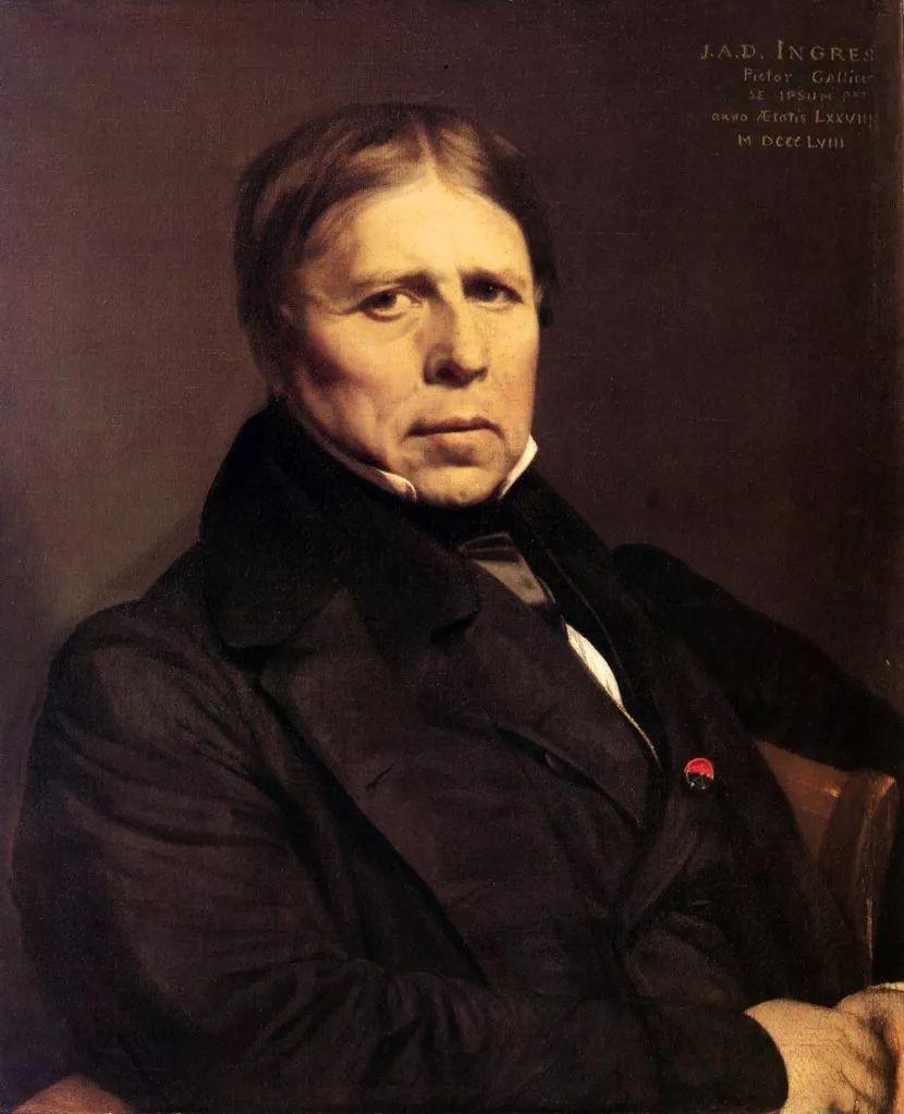 安格尔自画像 1858图片