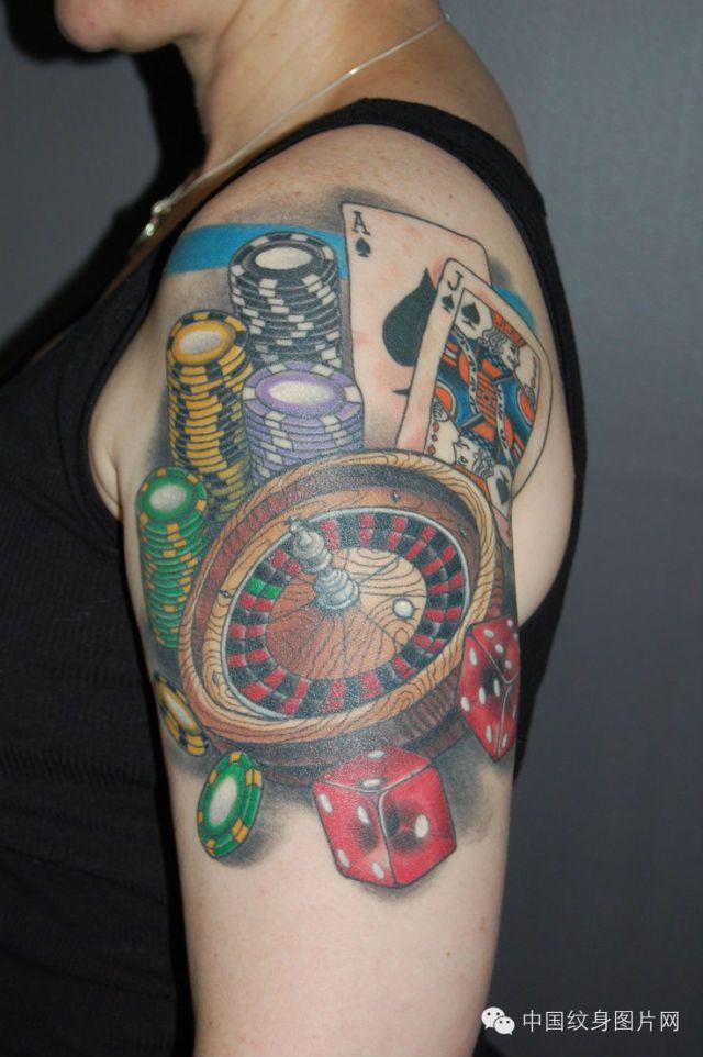 纹身素材:扑克