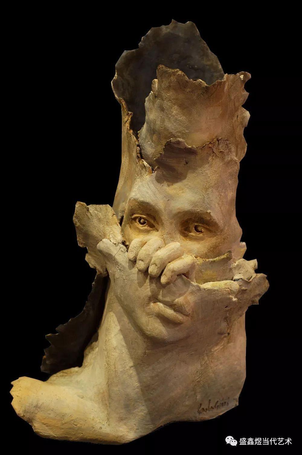 当代意大利雕塑家保罗·格里齐作品