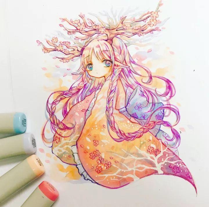 娱乐 正文  可爱的马克笔画 kuma来自香港 喜欢游戏,偶像bts 主要画