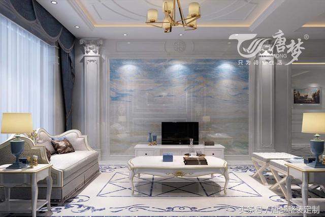 浪漫奢华欧式风格客厅电视背景墙效果图鉴赏