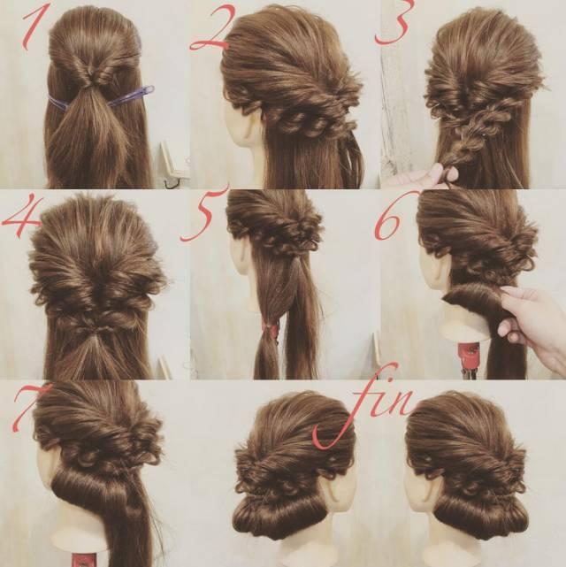 扎发很简单 | 新娘盘发图解教程