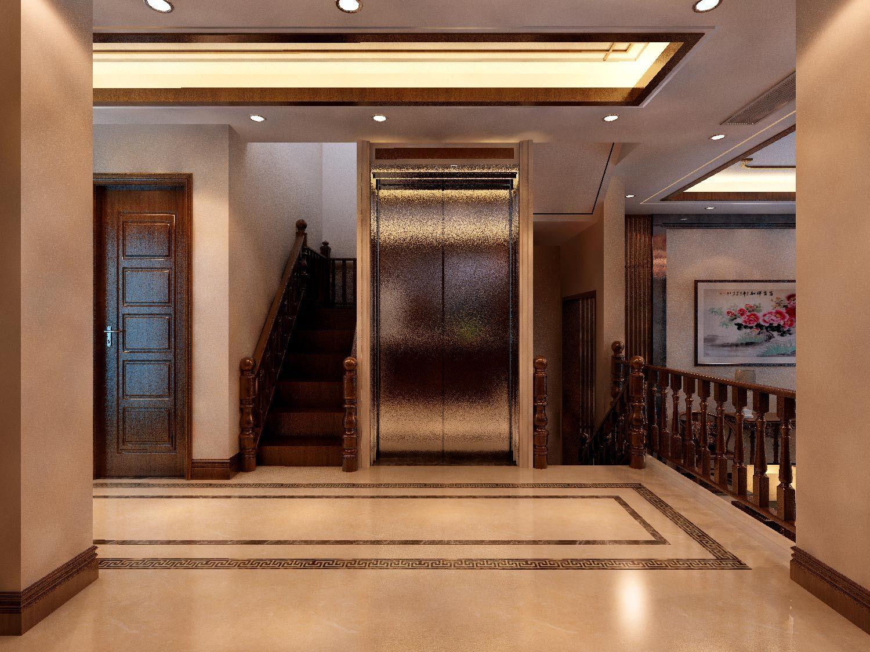 新中式风格别墅装修效果图-电梯图片