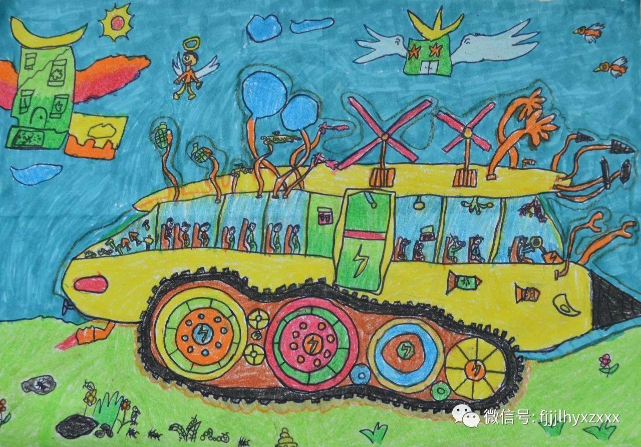 小学生科技幻想绘画作品欣赏_学习啦