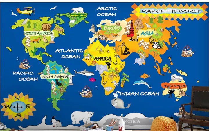 迪士尼幼儿百科,神奇的世界地图!图片