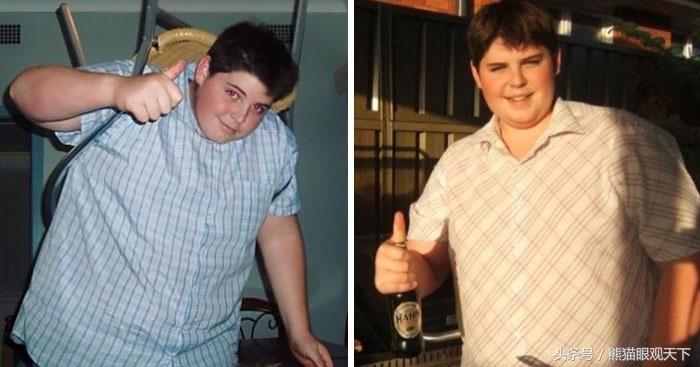 10年,他从308斤减肥成功,成了消防员,还娶了美男士减肥图图片