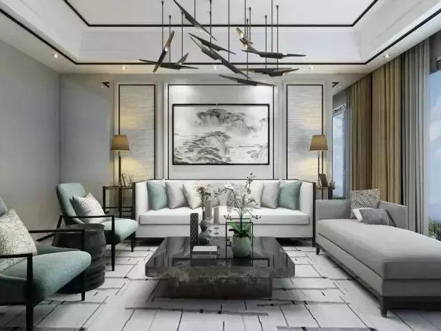 """这10款""""醉美""""新中式沙发背景墙,非你莫属!图片"""