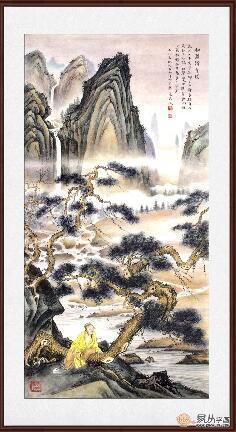 张天成最新力作四尺竖幅国画《松泉清音图》作品来源:易从网图片