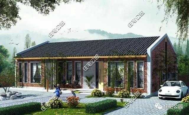 5套农村单层户型,小平房设计,省钱精致,舒适一辈子
