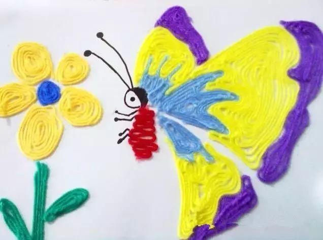 园教师拼贴画_幼儿园毛线新玩法,玩偶,拼贴画瞬间 get!
