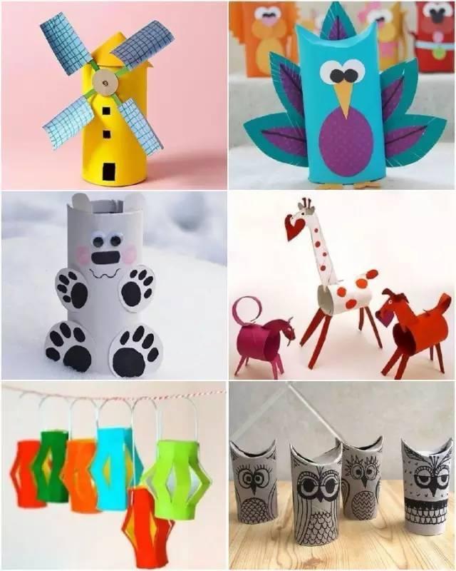 母婴 正文  用卫生纸卷筒可以制作可爱的小动物还可以用来画画.
