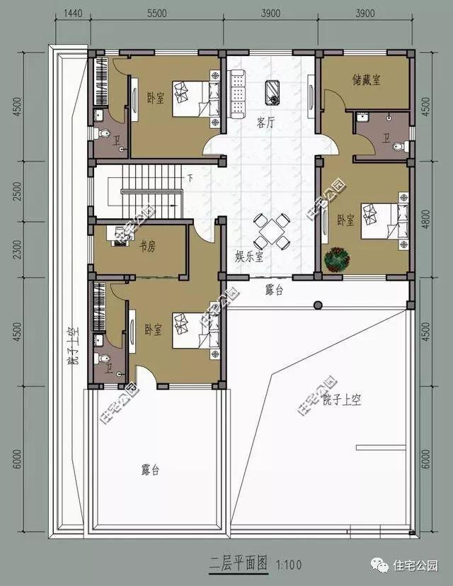 平面布局图:   第11套效果图:灰瓦白墙,书写中国江南宅院的独有的魅力所在;而木制窗棱,更是为它增加了一丝古韵之美.