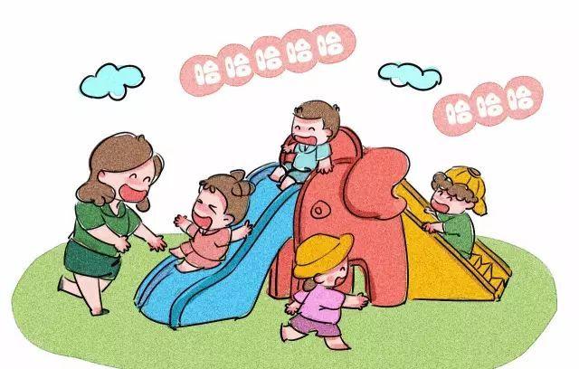 幼儿有序排队卡通图片