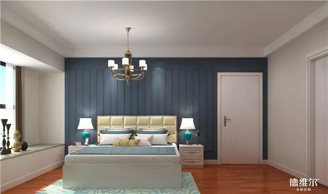 除了放婚纱照,床头背景墙还能这样设计
