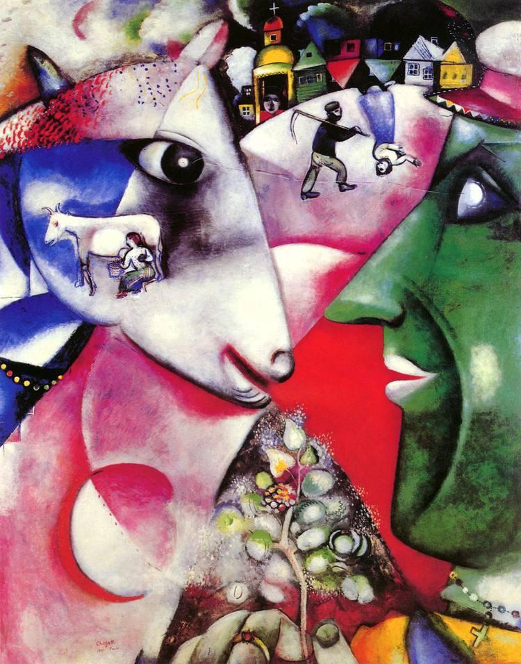马克夏加尔 marc chagall (1887-1985年) 俄国著名的油画家,版画家和图片
