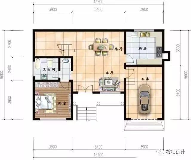 框架结构 建筑层数:2 关注微信公众号:村宅设计,免费500套农村别墅图片