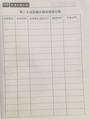 幼儿园安全培训记录_厉害!这所幼儿园用台账记录表就hold住了安全工作
