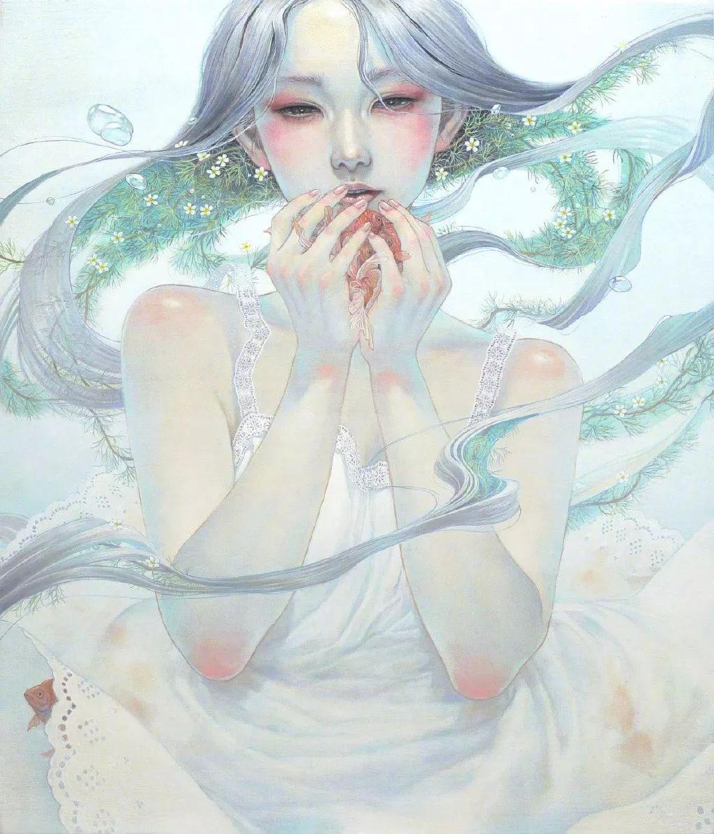 手绘素材 | 日本插画师平野実穂的一组唯美人物插画作品