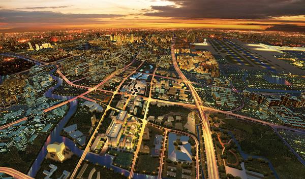 轨道交通城概念图