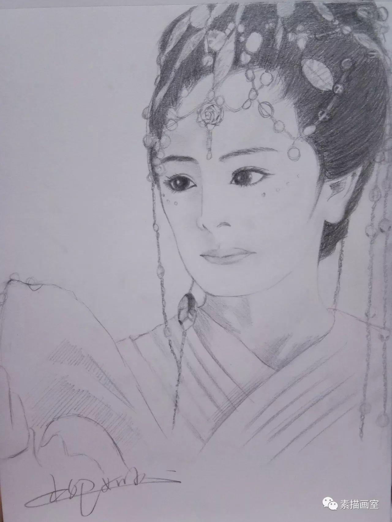 白浅手绘彩铅图