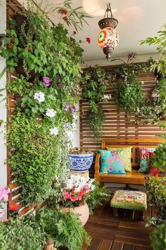 创意阳台小花园 效果图__芒果装修效果图
