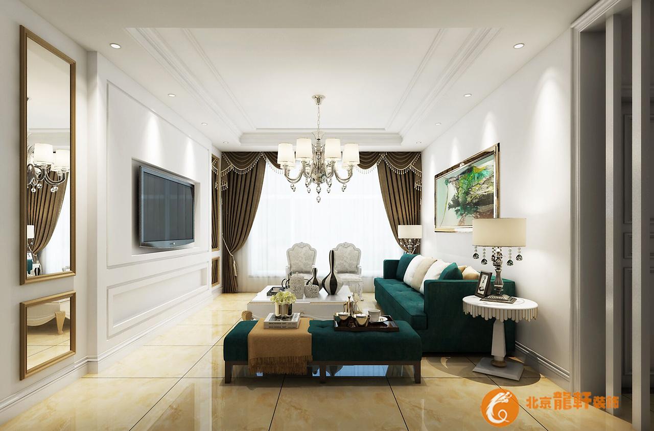 唐山龙轩装饰金岸红堡146 平米美式风格装修效果图图片