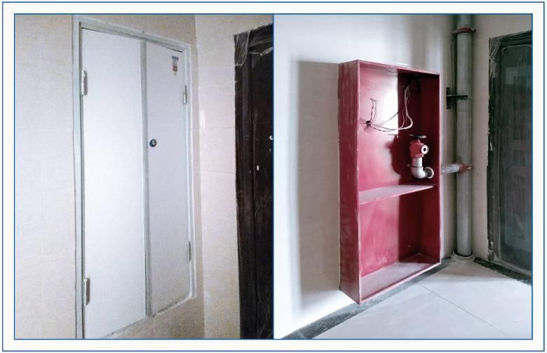 门您漏�_公共区域水,电井门安装完成