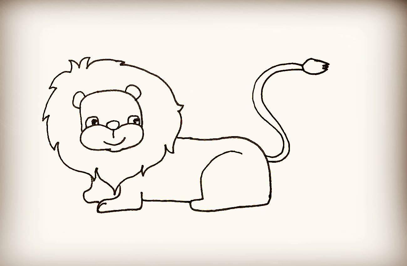 简笔画:狮子