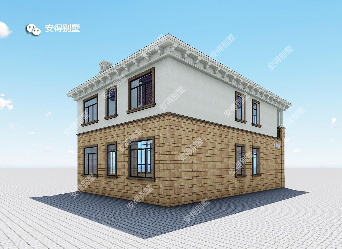 小二层户型的机械别墅农村设计,95%的自建黄岛大功设计招聘图片