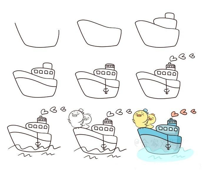 船简笔画图片大全
