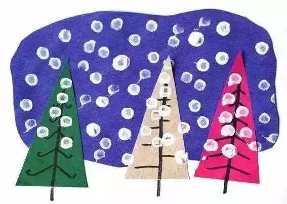 雪人雪花粘贴画-想让娃认知大雪节气,就靠这些雪花艺术创意手工