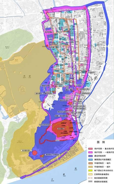 临安城遗址保护区总体规划图