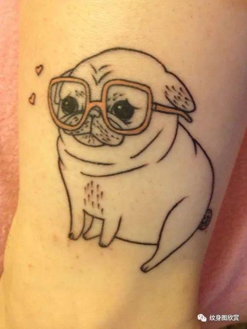 动物纹身 - 巴哥纹身图案