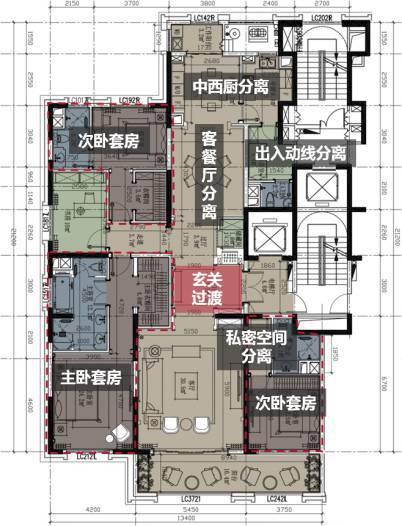 正文  以豪宅仪式感来说,除了常规的对称处理,也只有大面...