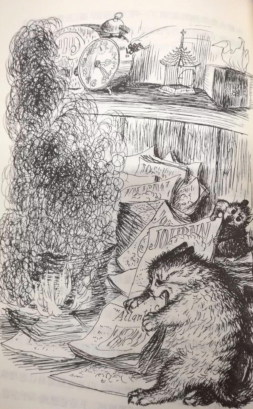 时代广场的蟋蟀简绘画