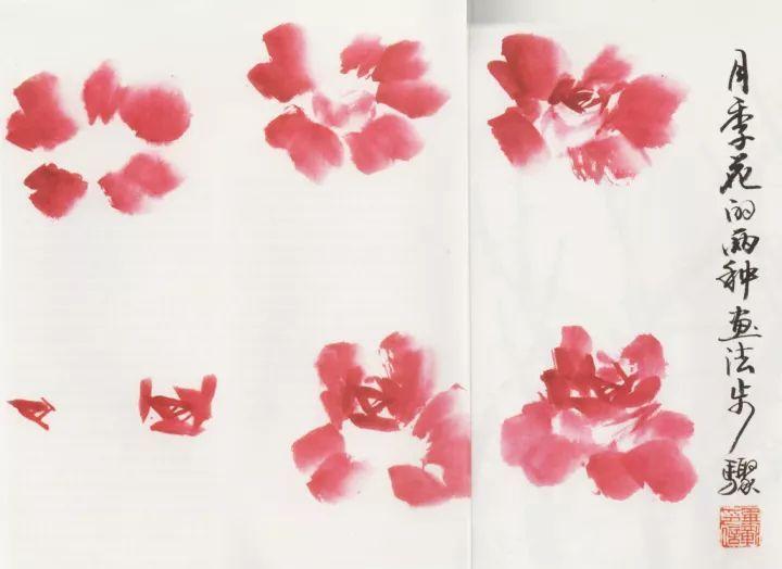 月季花的两种画法步骤 月季花的画法步骤有两种,一种是由外瓣画到内瓣