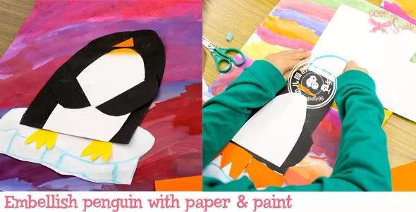 各种绘画用具,剪刀,胶棒等 制作步骤:用卡纸剪好的各种彩色房子,粘在