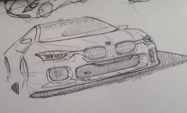 车素描画法步骤解图