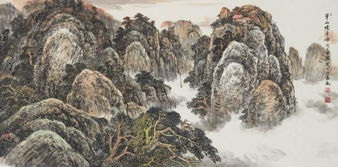 杨旭尧山水画艺术