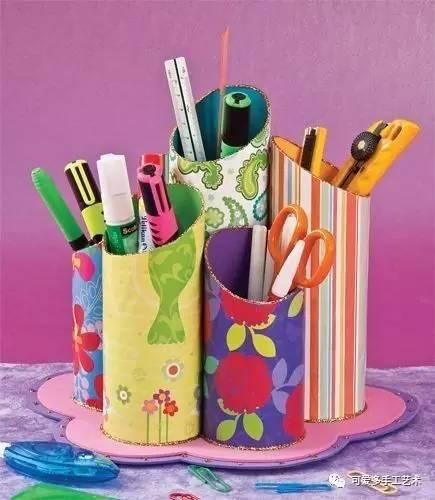 做成笔筒或收纳盒,分分钟比买的要漂亮!而且实用性也超强!图片