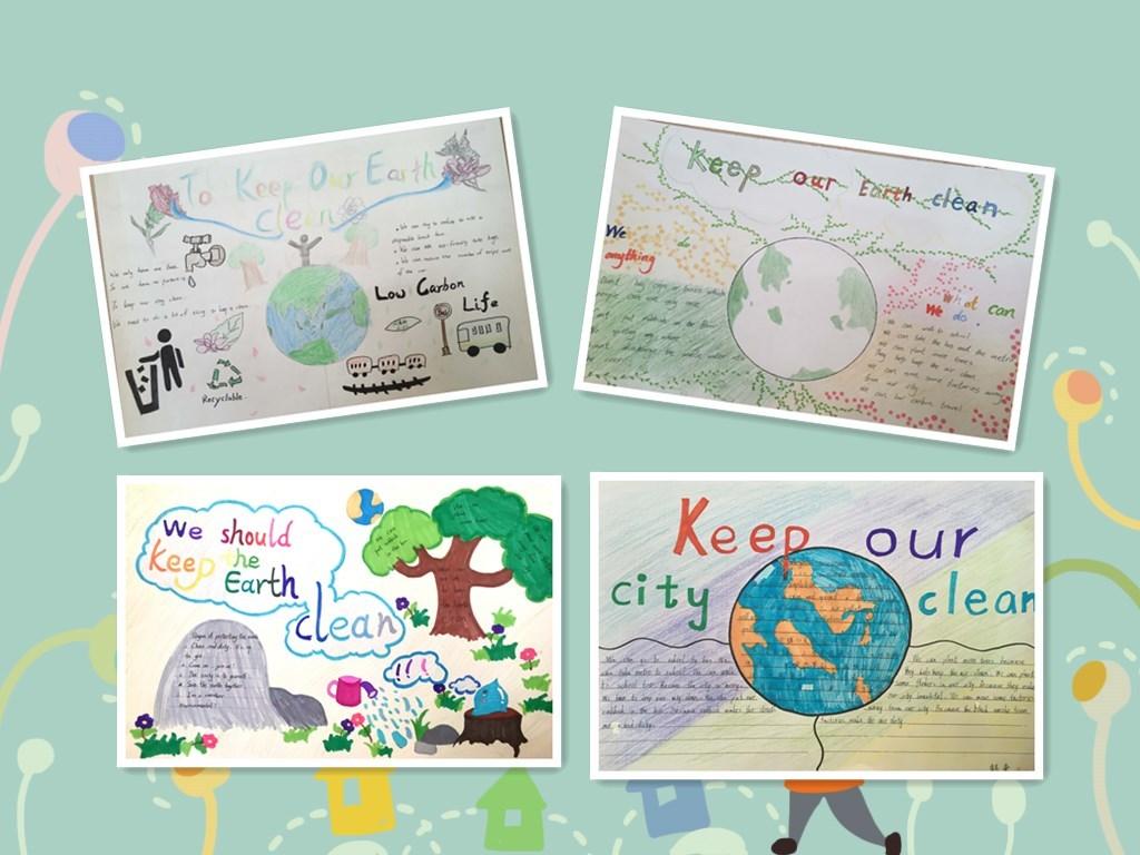 最美家庭主题小报_创新作业 英语优秀小报展