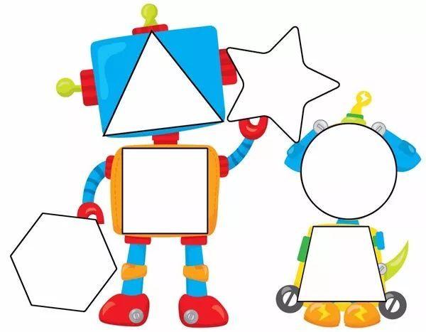 考验一下对形状的敏感度吧,把下面的图形填进机器人的身体需要几秒钟图片