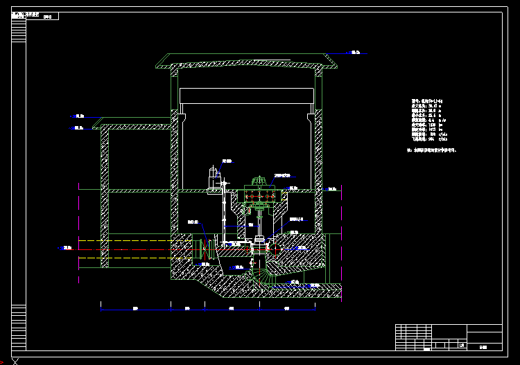 水电站发电机cad图纸,涨知识!