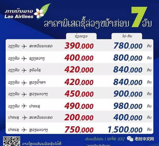 老挝航空放大招啦,还不来一场说走就走的旅行?
