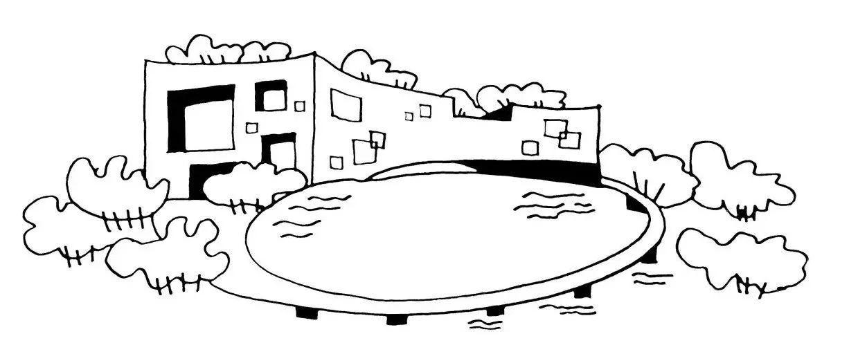 上海苏州河十八景手绘儿童画