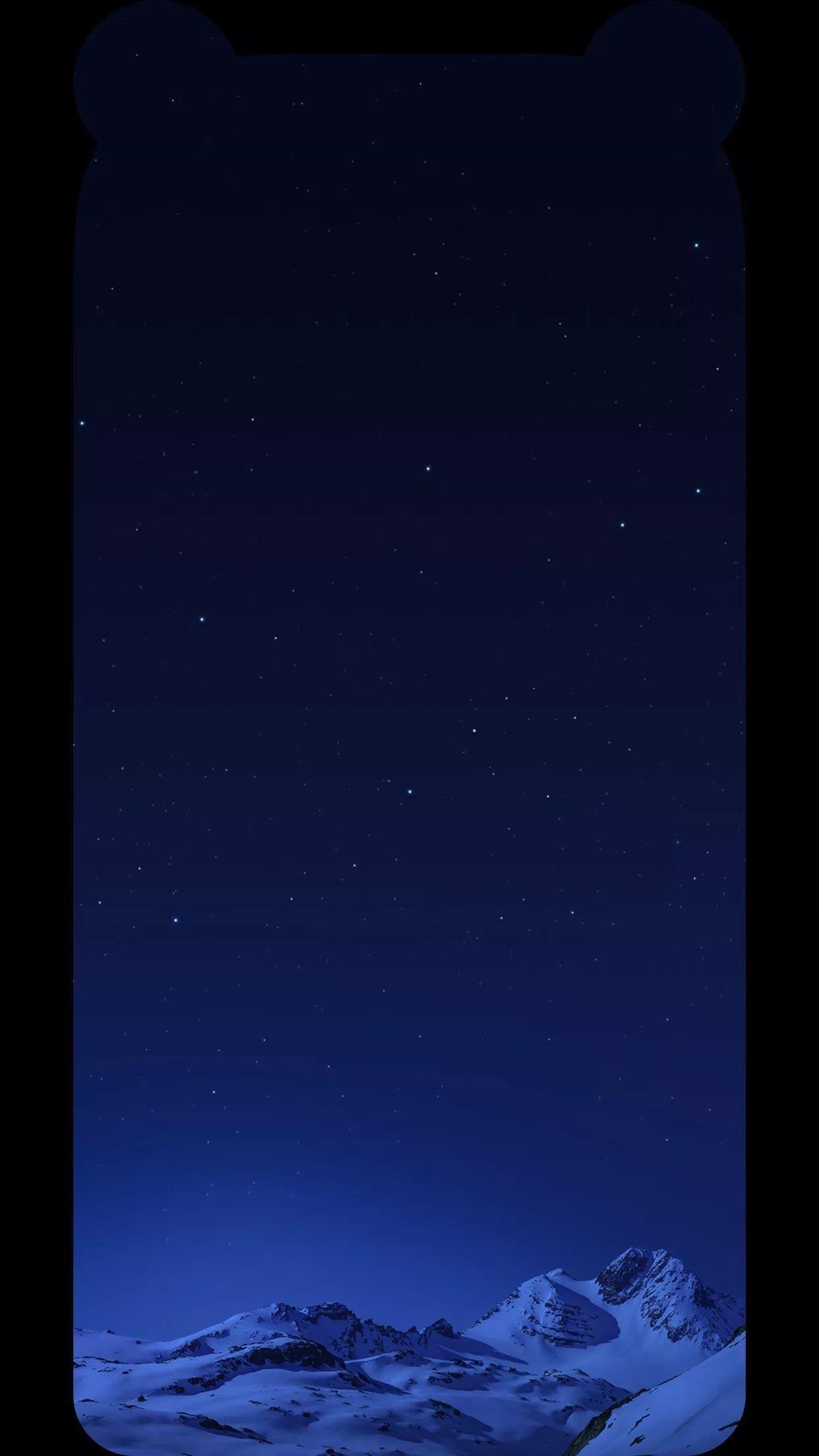 手机壁纸 iPhoneX专用全面屏熊猫耳刘海壁纸