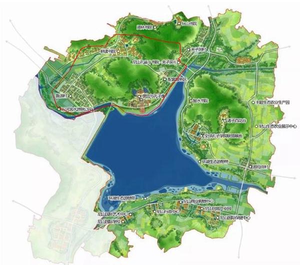 曲阜尼山南部规划图