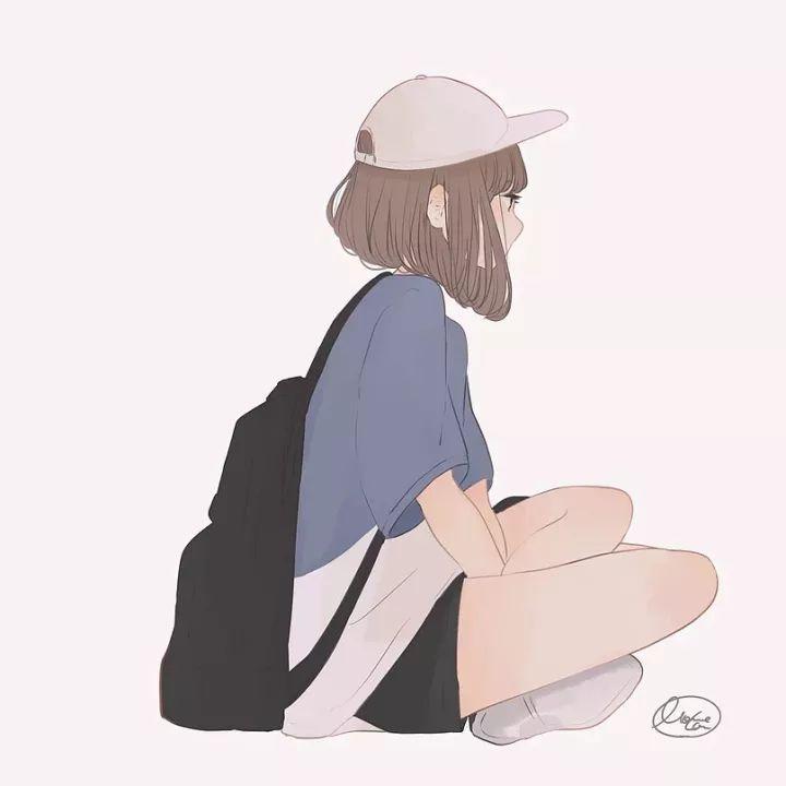 简单清新的人物插画,萌萌哒